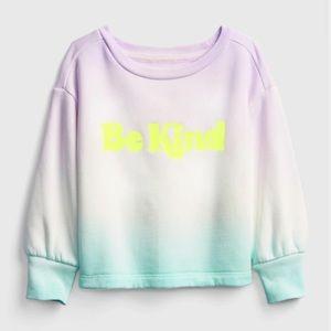 NWT Size 4 GAP toddler tie-dye crew neck sweater